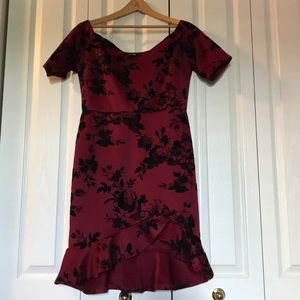 Burgundy Fashion Nova Dress